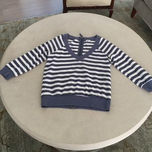 "Anthropologie striped ""sweatershirt"" with zipper"