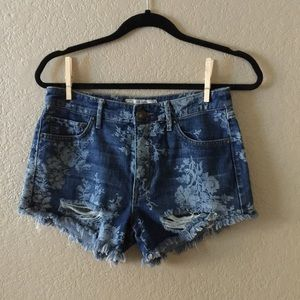 b0a2f0d2b5 Free People Shorts - final price free people floral denim shorts