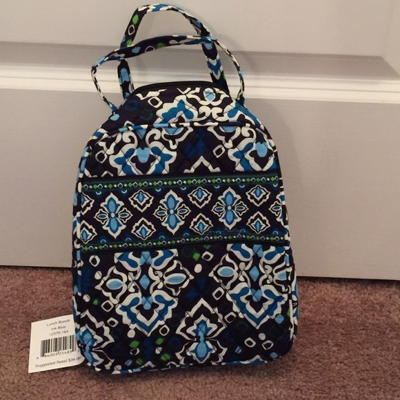 bbda81fca7 NWT Vera Bradley lunch bunch in Ink Blue 💙