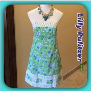 "Lilly Pulitzer "" Gator Country "" Strapless Dress"