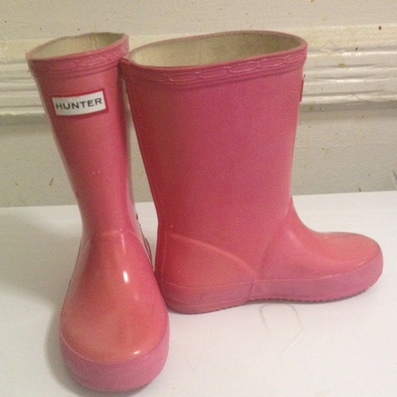 55% off Hunter Other - Hunter Kids Pink Rain Boots SIZE 9 toddler ...