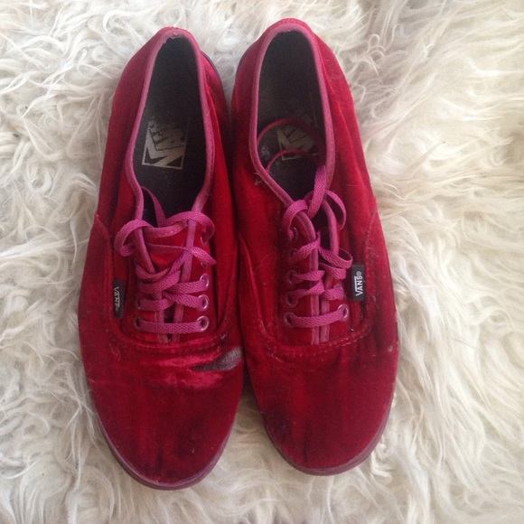 7bc6a1764c Red Velvet Vans (LOWERED PRICE). M 55b3d3d1c402ae097a00456e. Other Shoes ...