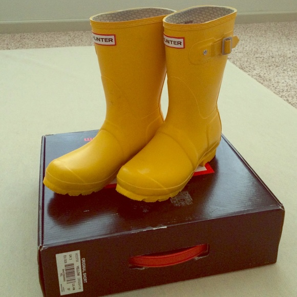 43% off Hunter Boots Boots - Hunter original yellow short rain ...