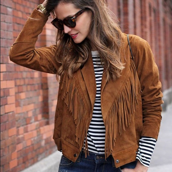 Jolt Jackets & Blazers - ✨SOLD✨BRAND NEW Suede Fringe Jacket