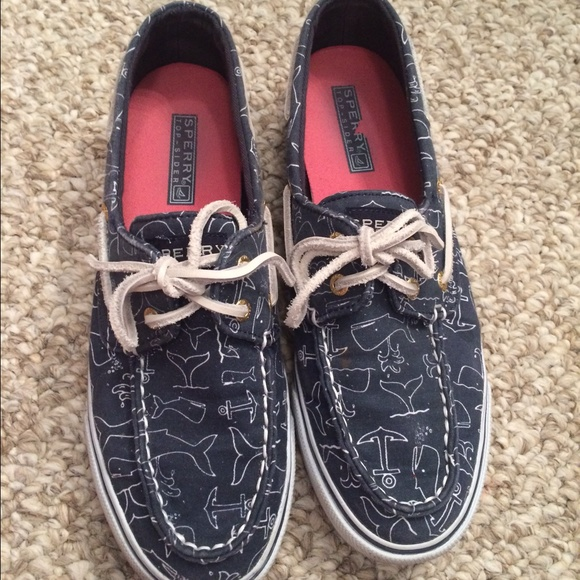 Sperry Shoes | Navy Whale Print Sperrys