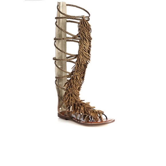 53fd6227554c8 Sam Edelman Gia fringe gladiator sandals