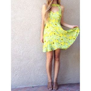 | new | sunflower cut out dress