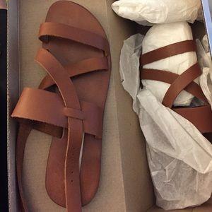 Steve Madden cognac gladiator sandal