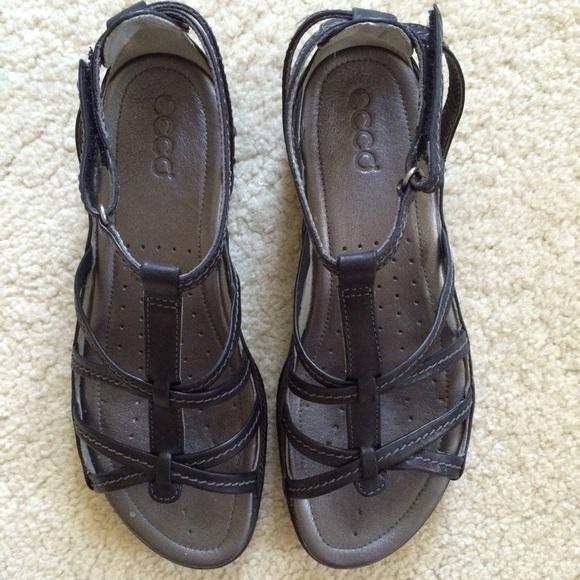 0474ecbecfd98 Ecco Shoes | Groove Gladiator Sandal Size Eu 39 Us 8 12 | Poshmark