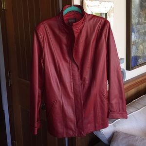 SALE  Red Leather Jacket