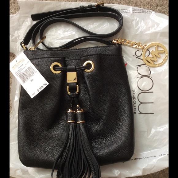 cc281a00846f NWT Michael Kors crossbody black leather bag