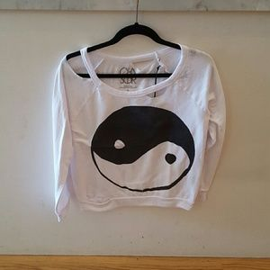 Chaser deconstructed yingyang raglan
