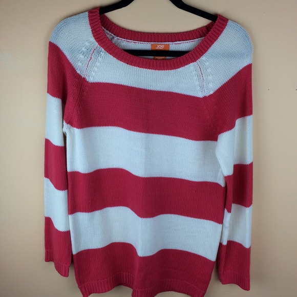 Joe Fresh Sweaters - Reddish pink striped sweater