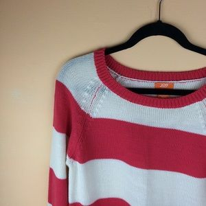 Joe Fresh Sweaters - Reddish pink striped sweater