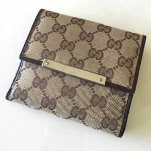Gucci Handbags - Gucci Metal Bar Bifold Wallet