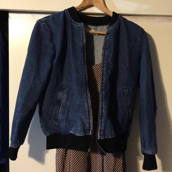 Denim bomber jacket american apparel