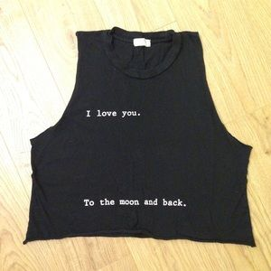 I love you to the moon and back Brandy Melville