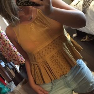 Eyelet Patchwork Top