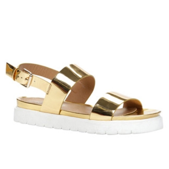 Aldo Parramore Gold Flatform Sandals