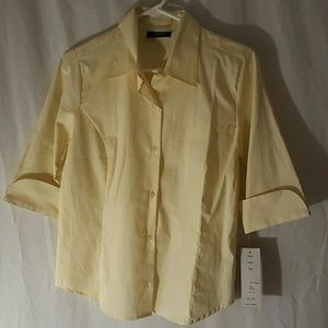 Allison Morgan Tops - NWT Allison Morgan Light Yellow Shirt Sz S