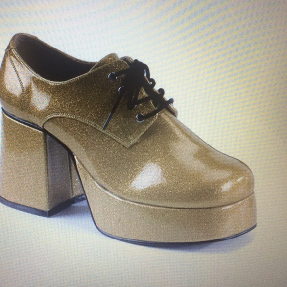 73 shoes s gold platform disco shoes from