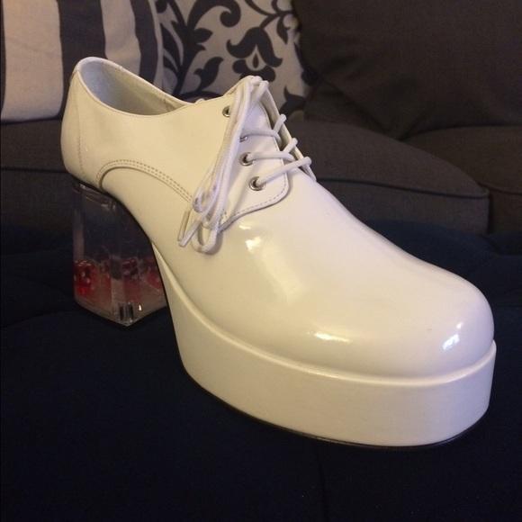 fb5f6618f7b1 Men s Platform Disco Shoes with Dice Heels