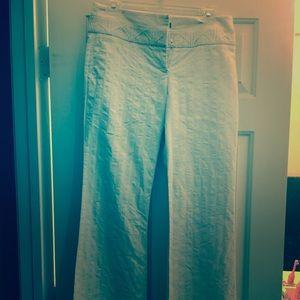 White Bebe size 6 pants