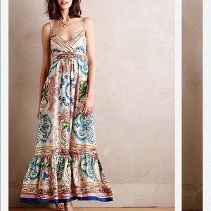 Anthropologie Acconia silk maxi dress Xs SALE!!!