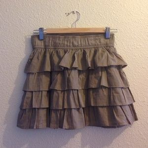 NWOT Layered Taupe Skirt