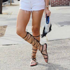 Zara Shoes - Zara gladiator lace up sandals brand new with tag