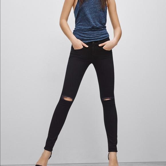 45% off rag & bone Denim - Rag and bone black skinny jeans with ...