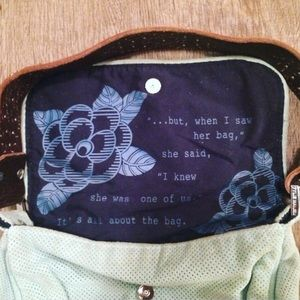 Tylie Malibu Suede & Leather Bag w/Crystal Studs