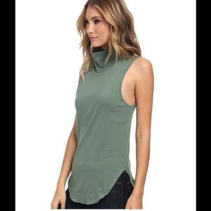 Free people muscle tank in army