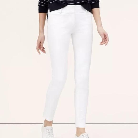 White Stretch Capri Pants