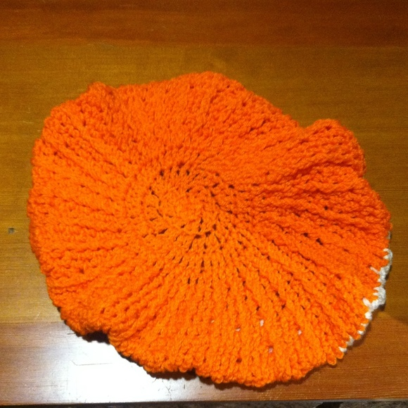 Accessories - Orange-creamsicle crocheted hat