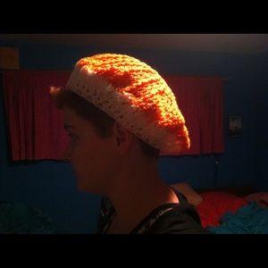 Accessories - Orange-creamsicle crocheted hat
