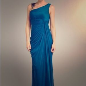 Adrianna Papell Dresses & Skirts - SALE 👗Blue Grecian Style Drape Detail Dress