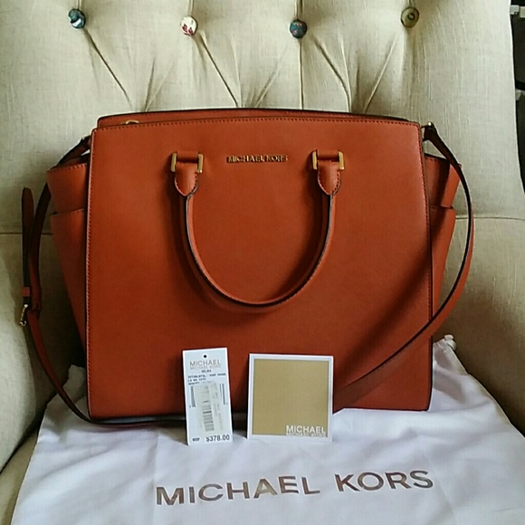 6ecf77c77db4 Michael Kors Bags | Unused Large Selma Burnt Orange | Poshmark
