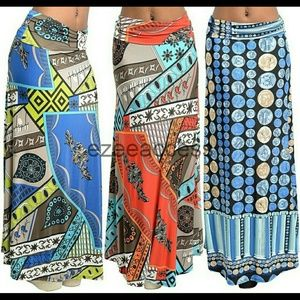 Boutique  Dresses & Skirts - Skirt maxi long high waist foldover boho chic new