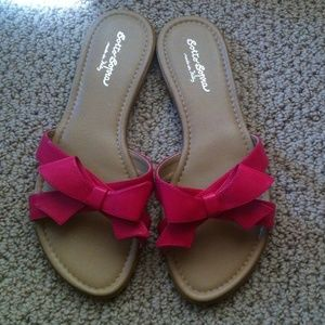 Sotto Sopra Shoes - NWOT! Pink Bow Sandals