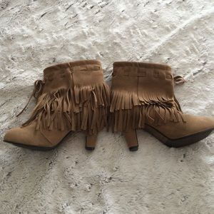 Brown booties size 6
