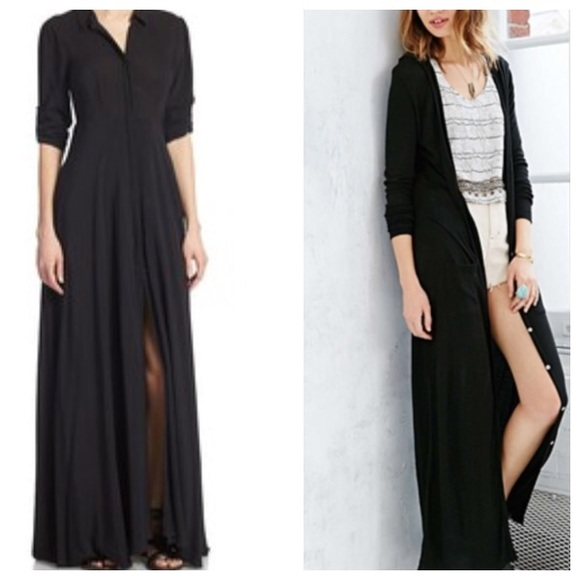 5ca01018492 Free People Dresses   Skirts - Free people sheer maxi dress long cardigan  black
