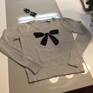 Kersh gray sweater with navy bow!