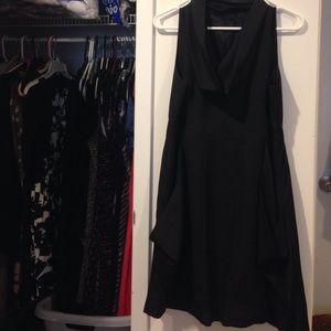 Kensie Cowl Neck Black Dress w POCKETS!