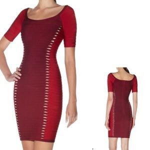 Herve Leger Dresses & Skirts - Herve Leger brand new with tags red/burgundy dress