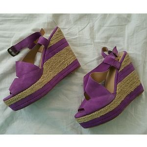 Dolce Vita Shoes - Gorgeous Suede espadrille wedges