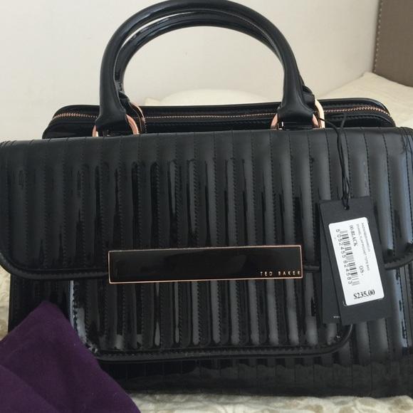 32% off Ted Baker Handbags - Ted Baker black patent handbag from ...