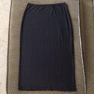 Express Pin Stripes B&W Pencil Skirt XS