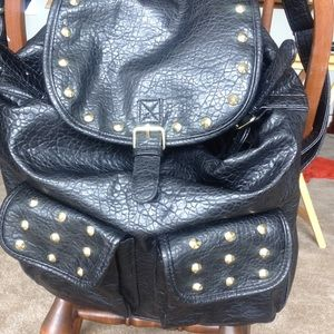 Target Limited Edition Handbags - Studded Faux leather backpack