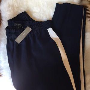 JCrew Navy Stripe Pants
